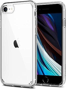 Spigen Funda Ultra Hybrid Compatible con Apple iPhone SE 2020/ iPhone 8/7, Protección híbrida de la caída - Transparente: Amazon.es: Electrónica