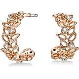 Mestige Brass Rose Gold Filigree Earrings - MSER3850