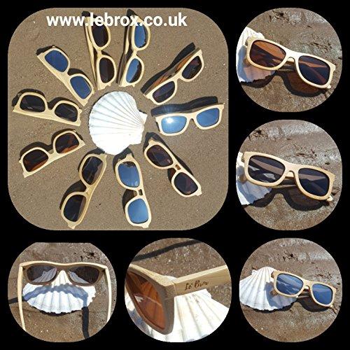 Gafas sol hombre bambú M para de Le' Marrón Brox qxCz5wTT