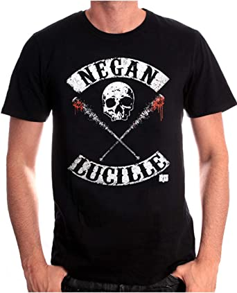 cotton division Negan Lucille Rockers T Shirt Homme: Amazon