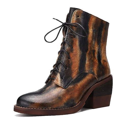 Zpedy Vintage Zapatos Martin Botas Cordones Mujer De xwB4wq70F