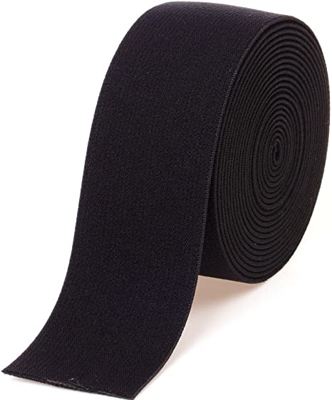 """White For Waistband Underwear Pants 10 Yards Knitted Elastic 1-1//2/"""" Wide Black"""
