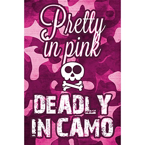 Aluminum Metal Pretty In Pink Deadly In Camo Hunting