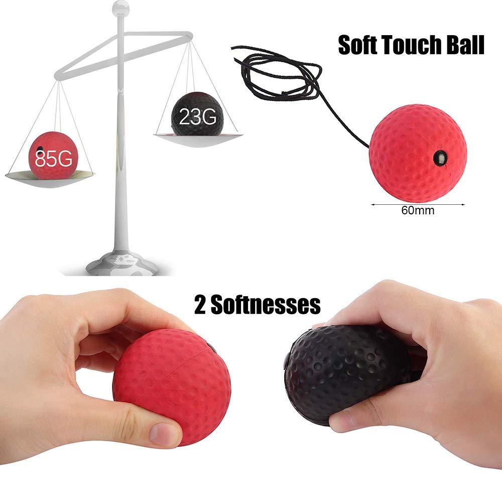 Bal/ón de Boxeo con Cinta para la Cabeza 2 Niveles, Incluye Cuerda para Saltar, Incluye 2 Pelotas de Boxeo y 2 balones de Boxeo para Entrenamiento de Velocidad de Boxeo TooTaci