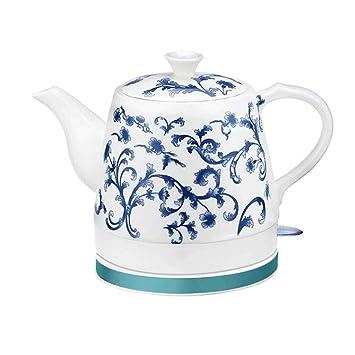 YSkettle Ceramic Hervidores eléctricosApagado automático de ebullición rápida China Vintage Porcelana Azul y Blanco de Estilo