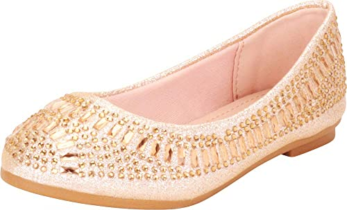 Cambridge Select Womens Round Toe Woven Slip-On Ballet Flat