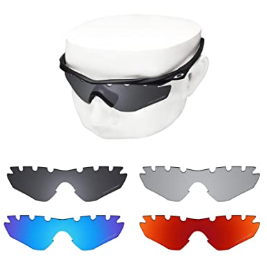 1db08ea0fb OOWLIT 4 Pair Replacement Sunglass Lenses compatible with Oakley M2 Frame  Vented POLARIZED