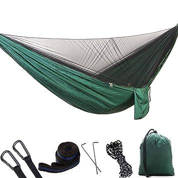 TXDY Hamaca para Acampar con mosquitera, Hamaca de Viaje para 2 Personas para Acampar al