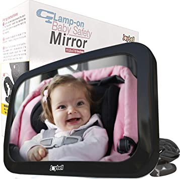 100/% Lifetime Satisfaction Guarantee Shatterproof Backseat Carseat Rearview Infant Forward Facing in Back Seat M Compact Rear View Mirror COZY GREENS Baby Car Mirror for Windshield