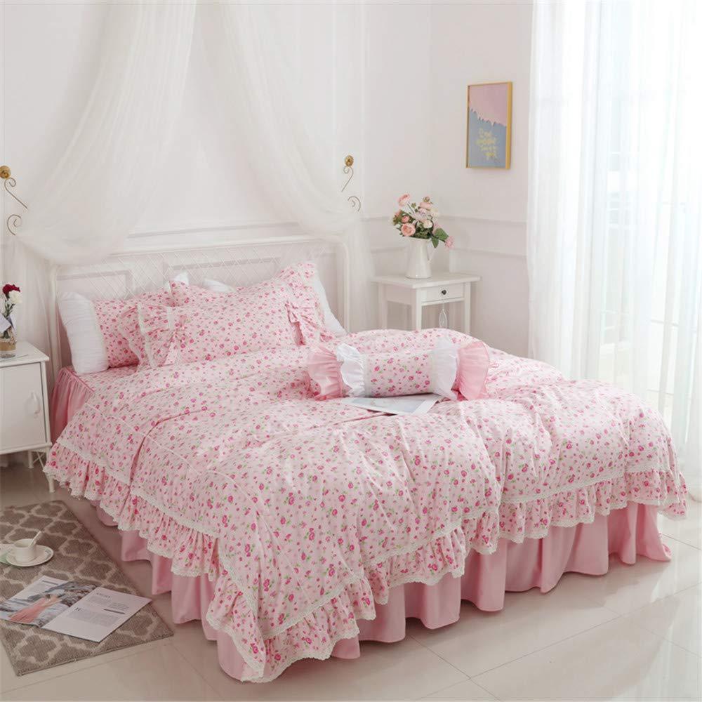 Amazon.com: Norson Ruffle Duvet Cover Twin Pink Vintage ...