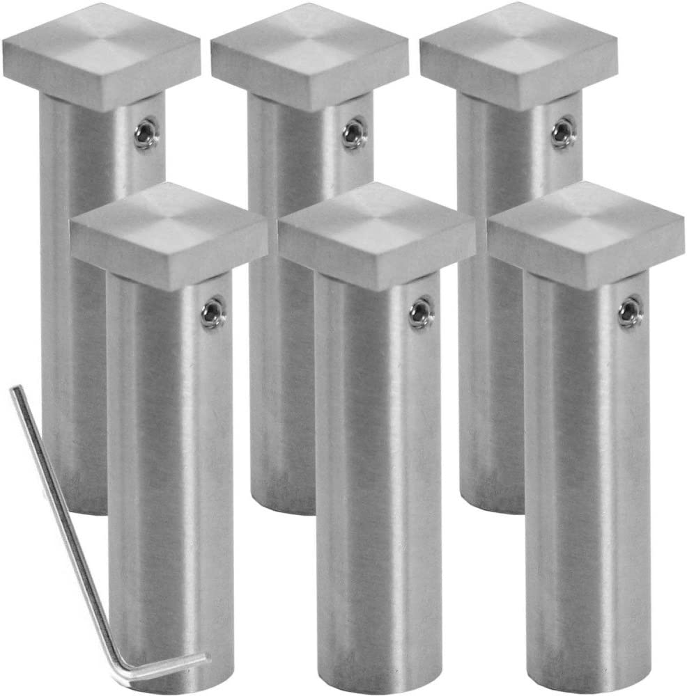 1.6 cm x 6 cm Modell:4 St/ück 1 o Set Edelstahl Abstandshalter Spiegelhalter Glasplattentr/äger Schild Halterung Distanzh/ülse Schraubbar Viereckig+Rund