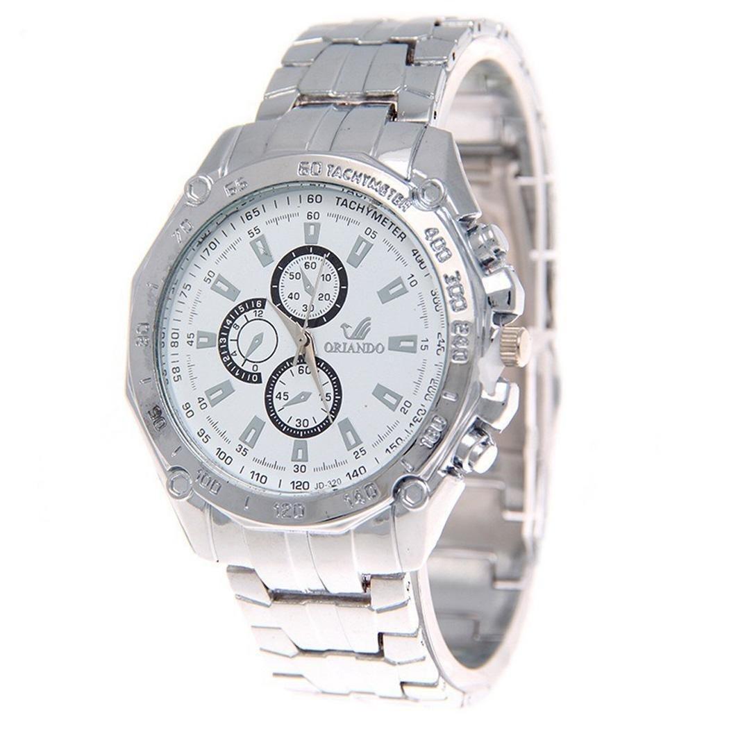 Watches Mens Full Steel Quartz Analog Wrist Watch Men Luxury Brand Waterproof Date Business Watch by Etuoji