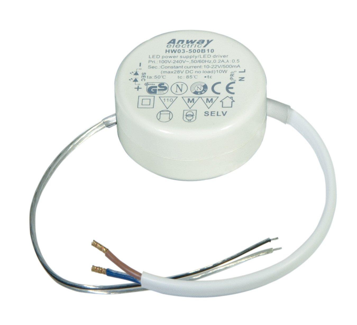 00011731 - ANWAY LED Treiber HW03-500B10 10W/500mA/10-22V