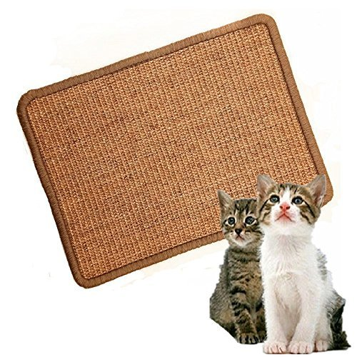 LPLED Cat Scratching Mat,Natural Sisal Cat Mat,Protection Play Scratcher Pad