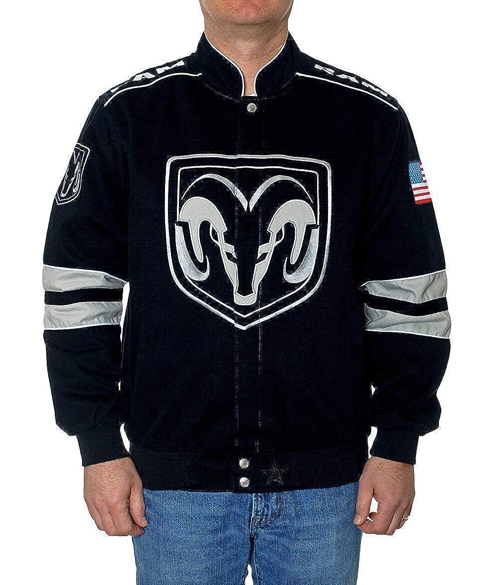 JH Design Men's Dodge RAM Embroidered Cotton Twill Jacket RAM303GEN4BLK
