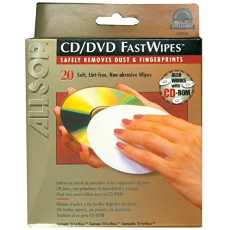 Allsop 50100 20 CD Cleaning Pads FastWipes 20 Pack Consumer Electronics Accessories