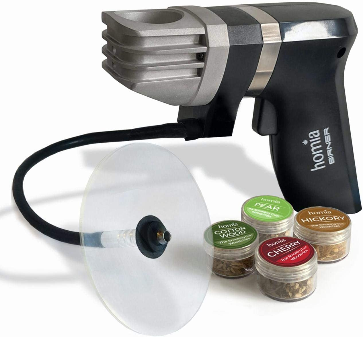 Smoking Gun Wood Smoke Infuser - Starter Kit, 11 PCS, Portable Electric Smoker Machine with Accessories and Wood Chips - Cold Smoke for Food and Drinks