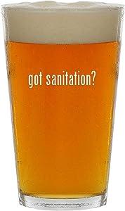 got sanitation? - 16oz Clear Glass Beer Pint Glass