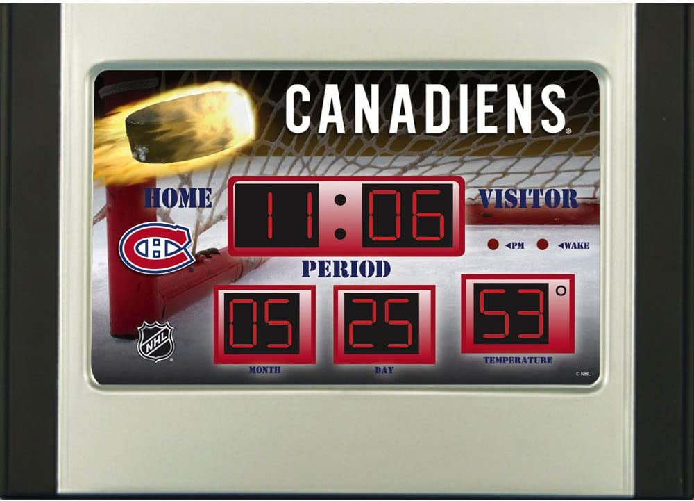Evergreen NHL Montreal Canadiens Desk and Alarm Team Colors One Size
