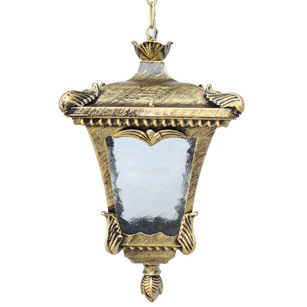 TJZY Novely Chandeliers-Chandelier+Pendant Light Aluminum Lamp Body Glass Lampshade Outdoor Waterproof for Balcony Hallway Courtyard Garden E27, Creative Decorative Lighting