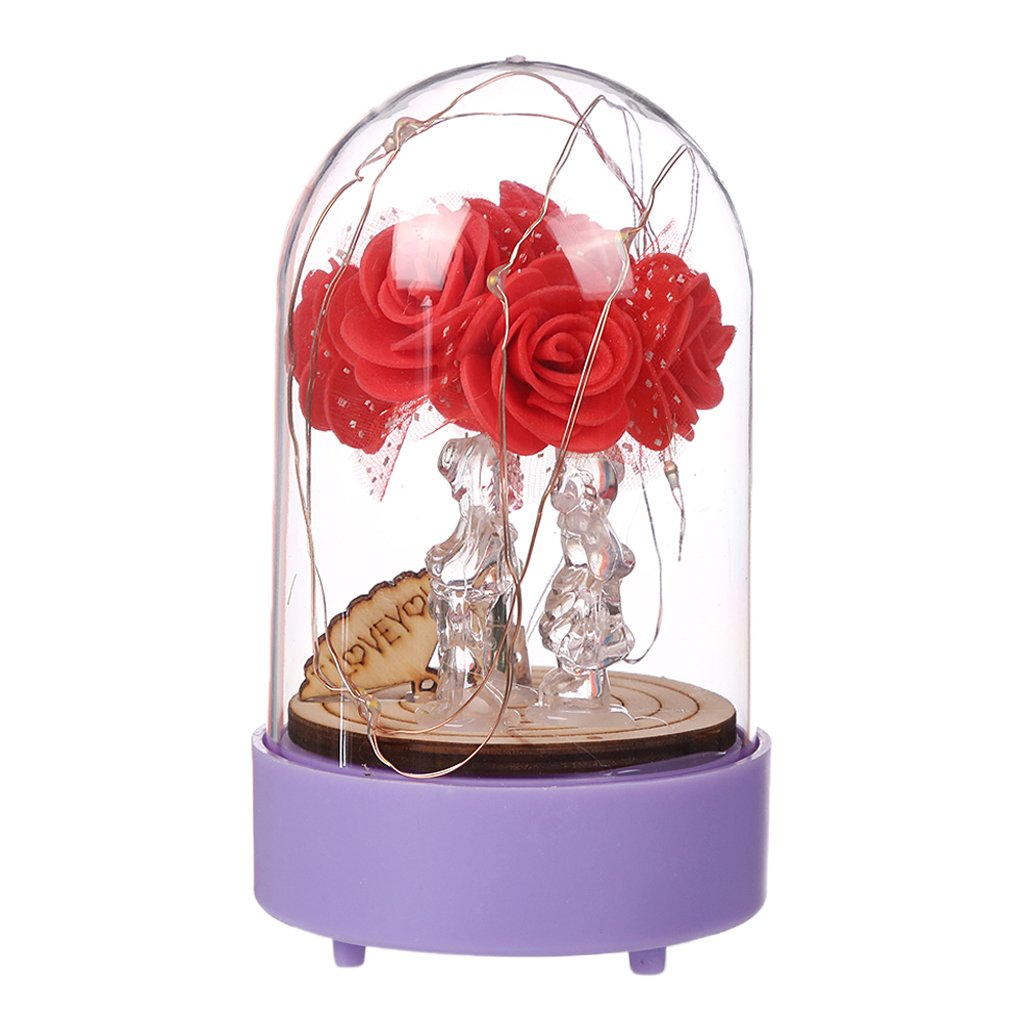 Homyl Home Lamp Lampshade Romantic Light Decorations for Adults Kids Bedroom Ornament - Rose Flower, as described