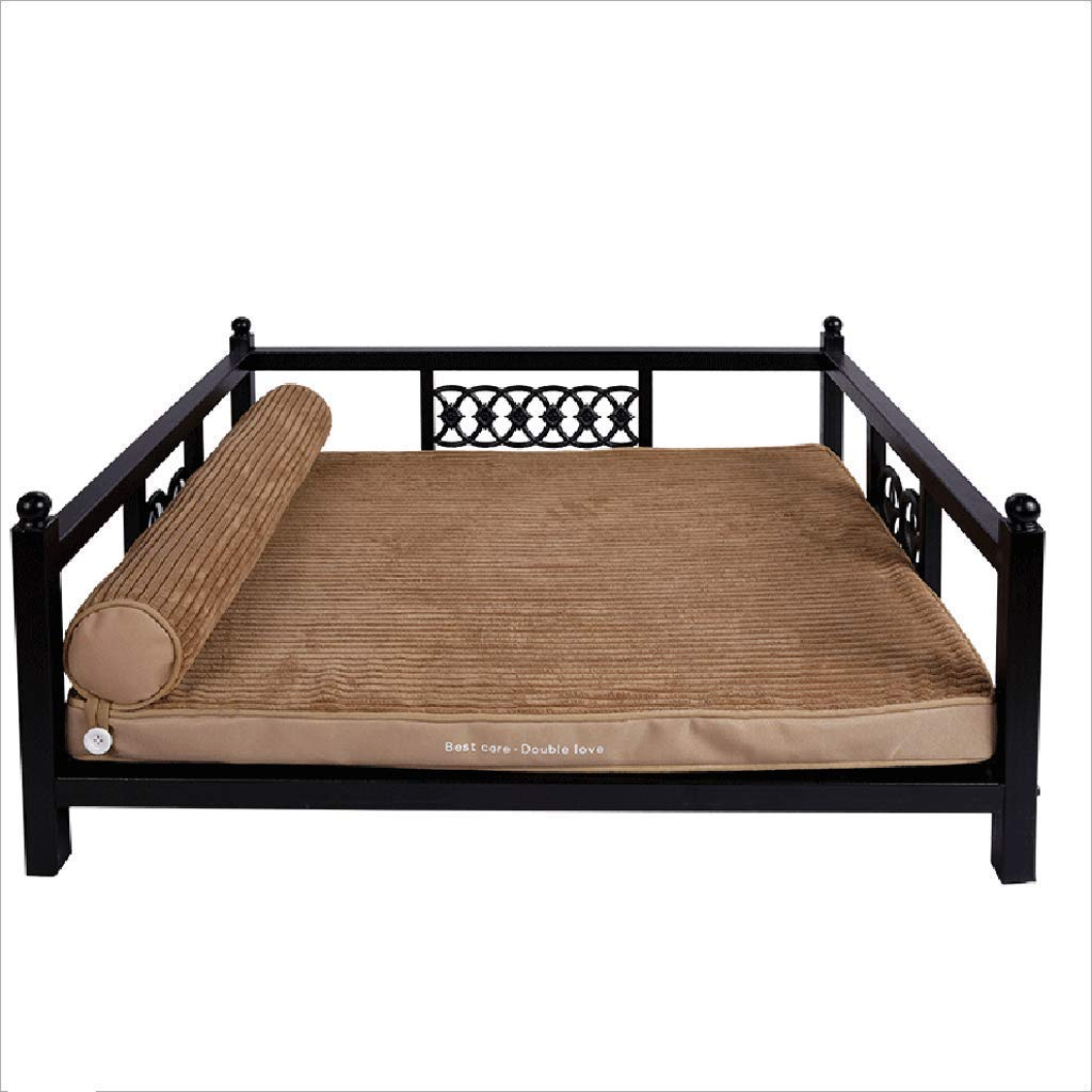 XINXI HOME Puppy iron bed Large dog bed Washable Bite resistance Princess bed sofa Pet bed Pet mat