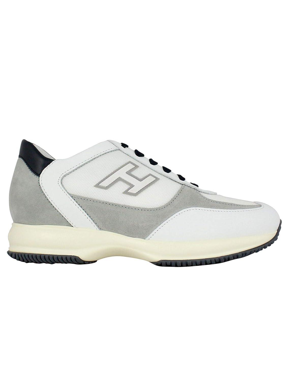 - Hogan Men's HXM00N0Q102KDY489Q White Leather Sneakers
