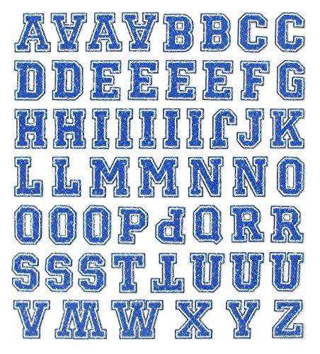 Linpeng 5 Piece Iron on Glitter Letter Transfer Sheet Set, 20mm