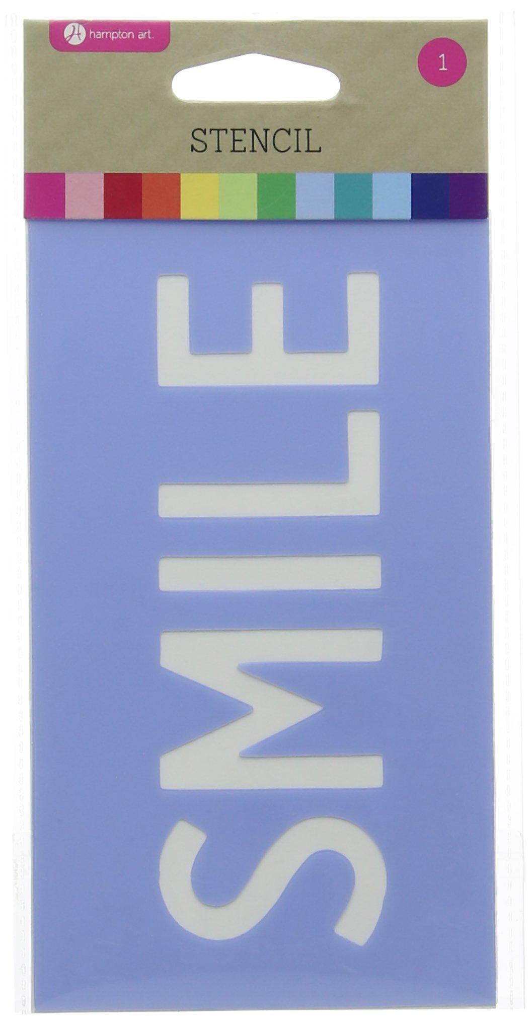 Stencil 3.5''X6''-Smile by Hampton Art (Image #1)