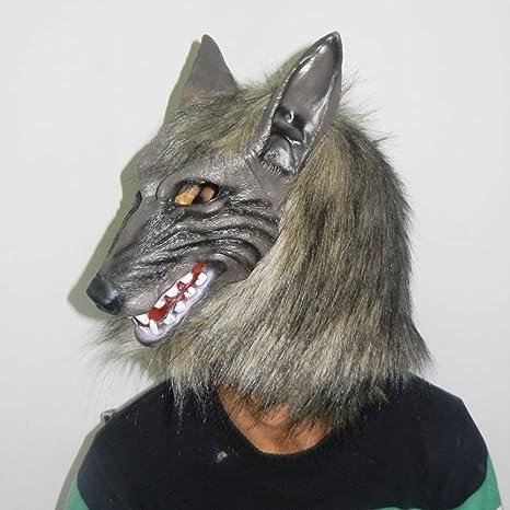 Halloween Cosplay Látex Máscaras Lobo Cabeza Animal para Super ...