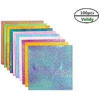 Velidy - Papel de cartulina con purpurina