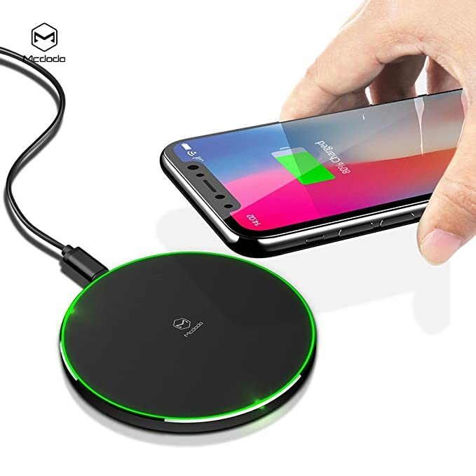 Mcdodo - Cargador inalámbrico LED para iPhone X, 8/8 Plus ...