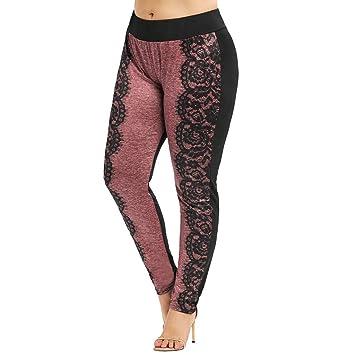 98835229a5fc7d Women Clothes Fashion 2019 Business Casual,Women Lace Splice Pants - Casual  Skinny Yoga Leggings