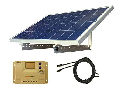 Amazon.com: 100 W 12 V Panel Solar Kit + Soporte ajustable ...