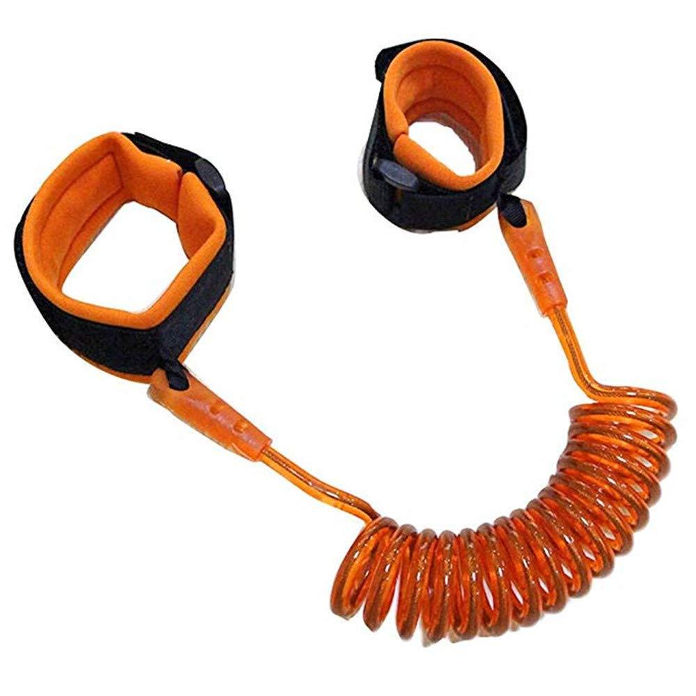 Orange MUXItrade Anti Verlorene Handgelenk G/ürtel 1 PCS 1.5M Baby Anti-verloren G/ürtel Kleinkind Sicherheit Armband Z/ügel Kind Verbindung Link Leine Harness Elastisches Drahtseil
