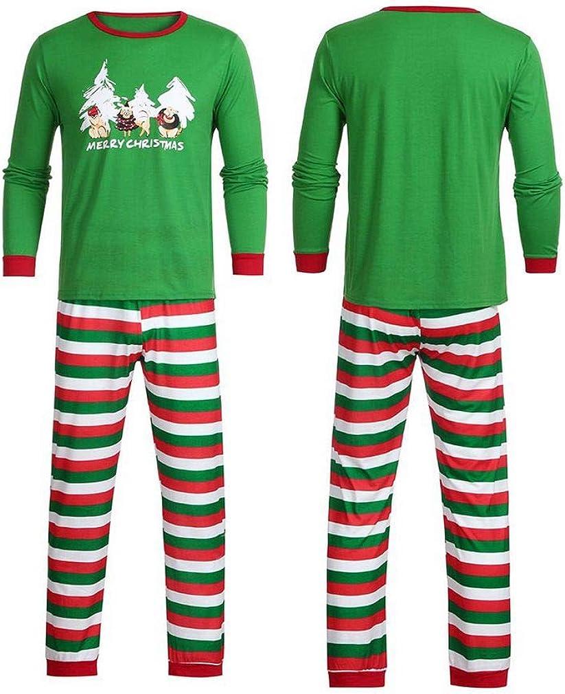 Kehen Merry Christmas Pijama a Juego para Familia y Parejas feas de Santa Claus Ropa de hogar para bebé