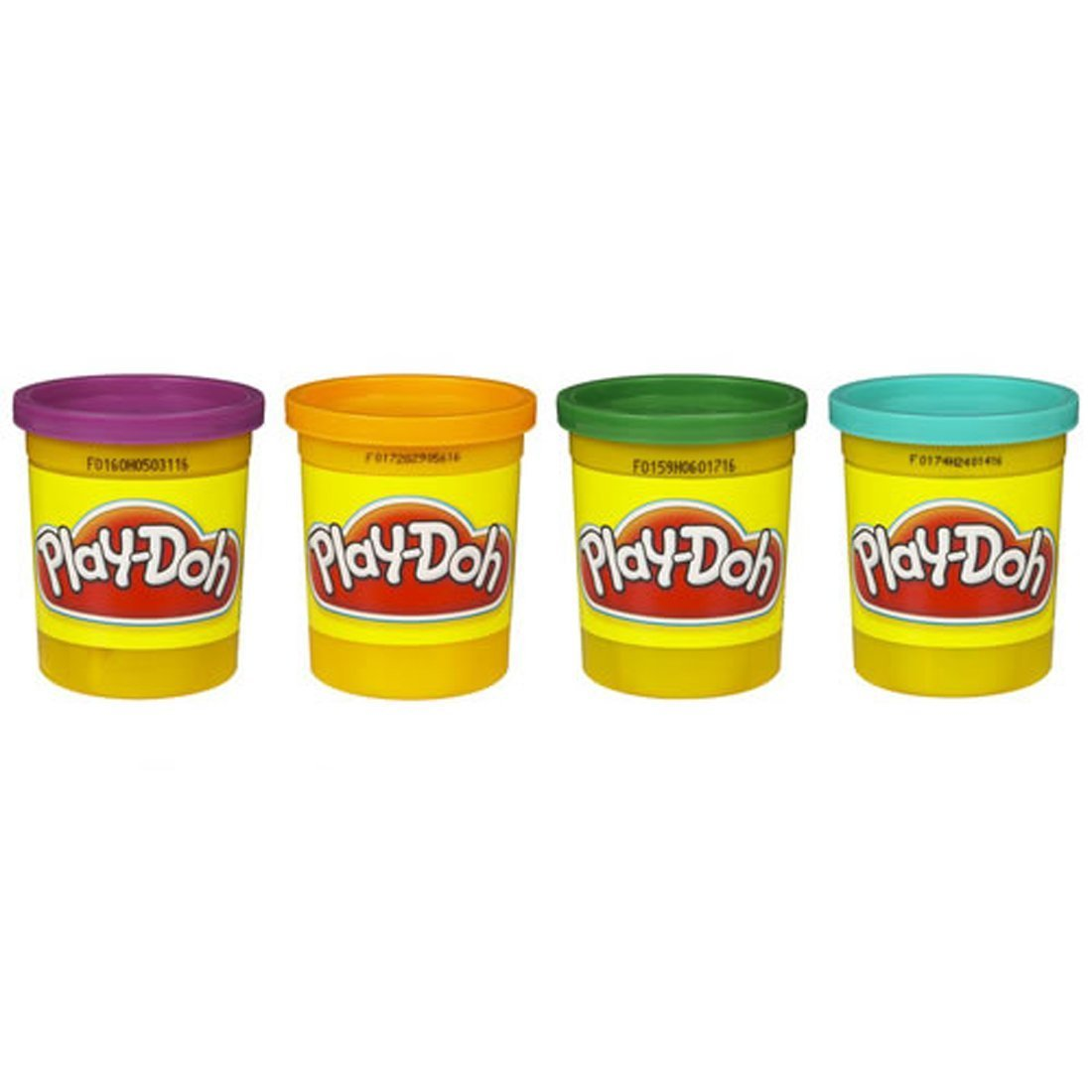 Hasbro Play Doh 4 Pack of Colors 16 Ounce Total Purple Orange Green Blue