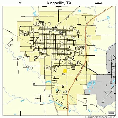 Map Of Texas Kingsville.Amazon Com Large Street Road Map Of Kingsville Texas Tx
