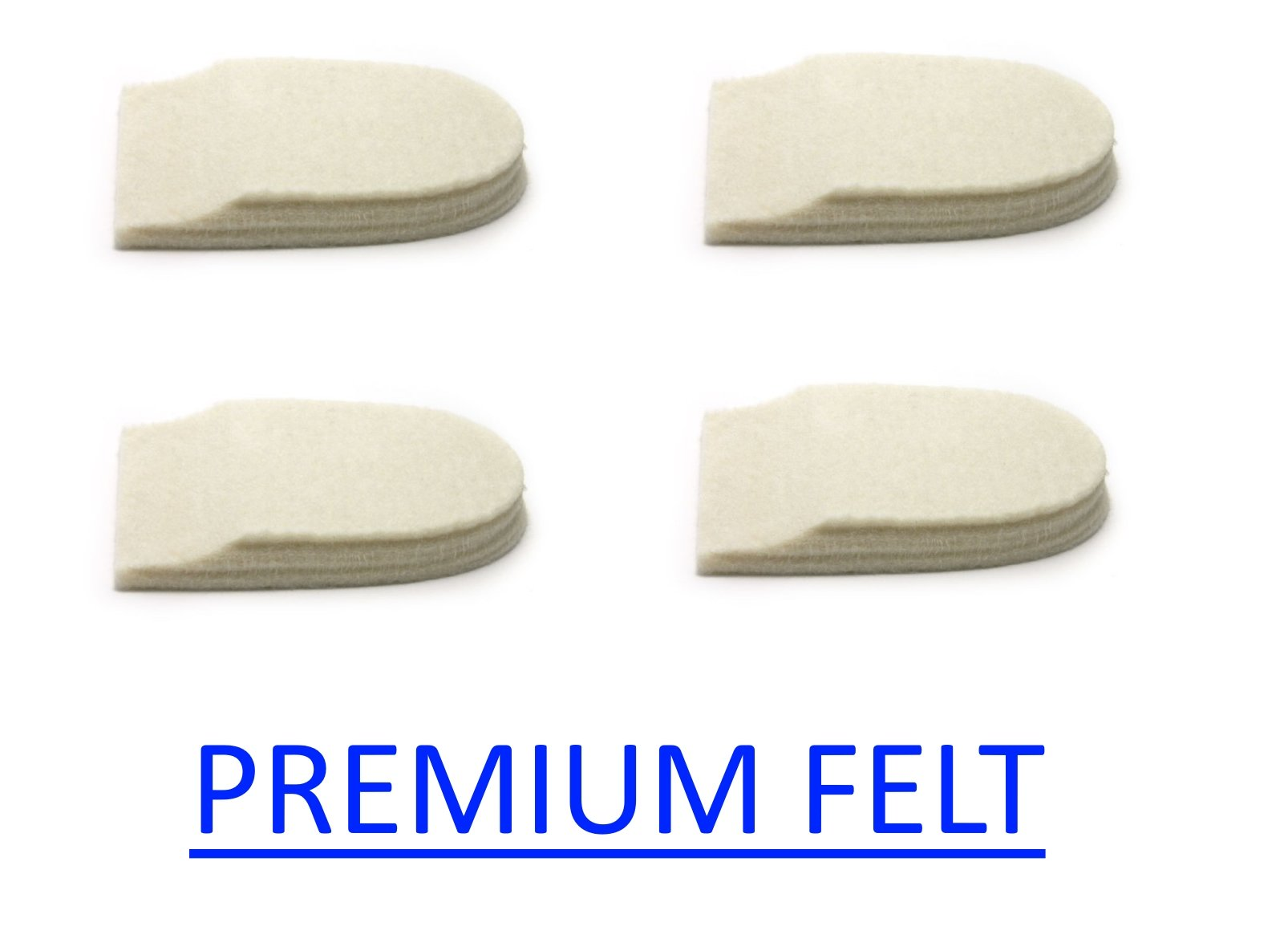Felt Heel Cushion Pad 1/2'' with Adhesive for Pain Relief - 2 Pairs (4 Pieces)