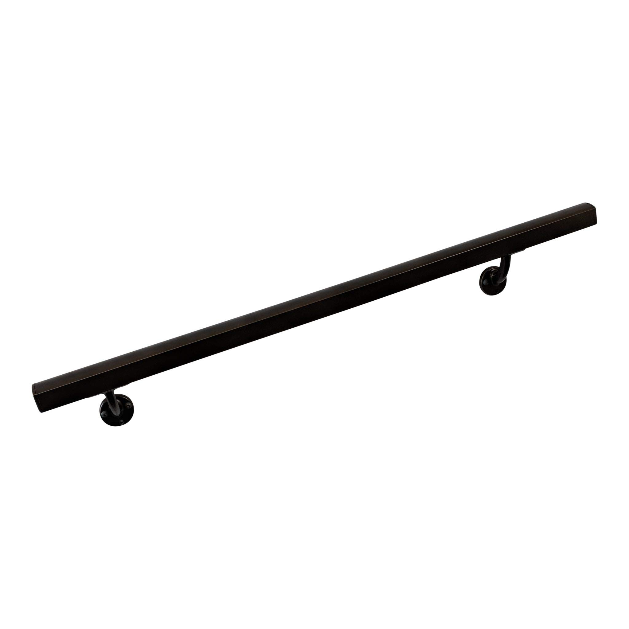Aluminum Handrail Direct AHR 3' Wall Handrail with mounts - Dark Copper