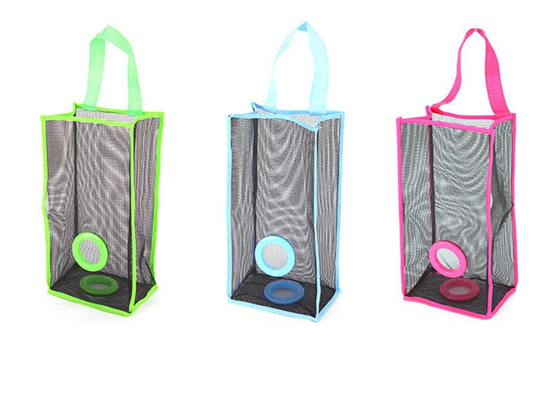 Dispenser Hanging Mesh Plastic Grocery Storage Garbage Organizer for Home 3 Pack (model 1)
