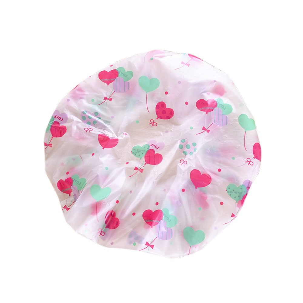 GerTong 1PCS Shower Caps Waterproof Women Ladies Bath Cap Long Hair Shower Cap Reusable Clear Plastic Hair Cover Spa Salon Care Large Bathing Cap (A) 4533660715SMBRGTTYROC