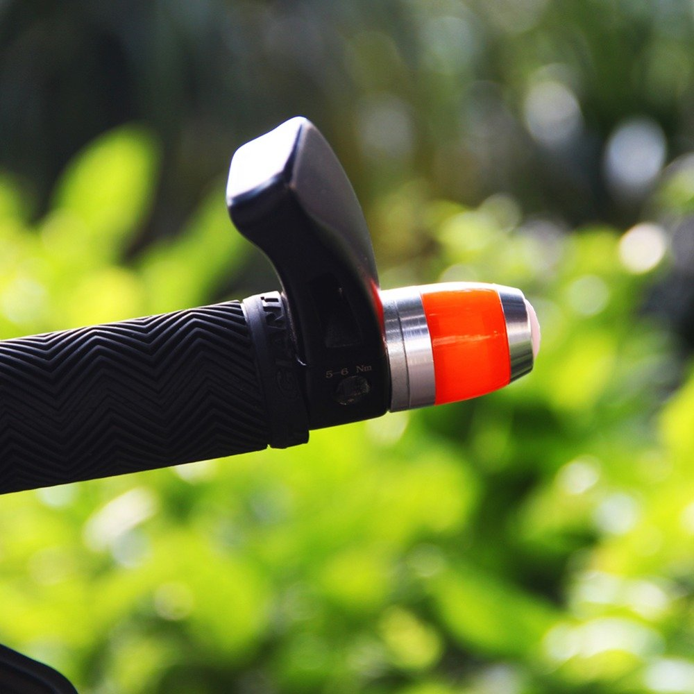 Bicycle directional turning signal light Red