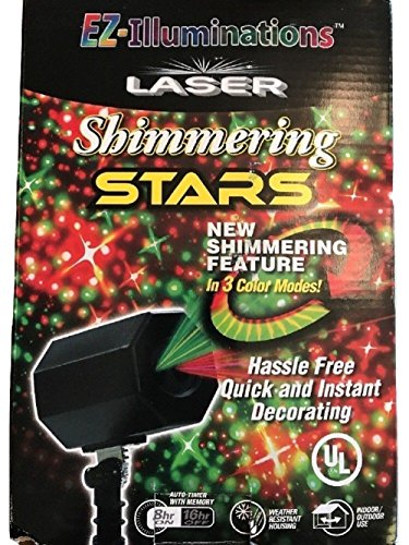 EZ- Illuminations Laser Shimmer Stars Green & Red 3 Color Modes by EZ-Illuminations