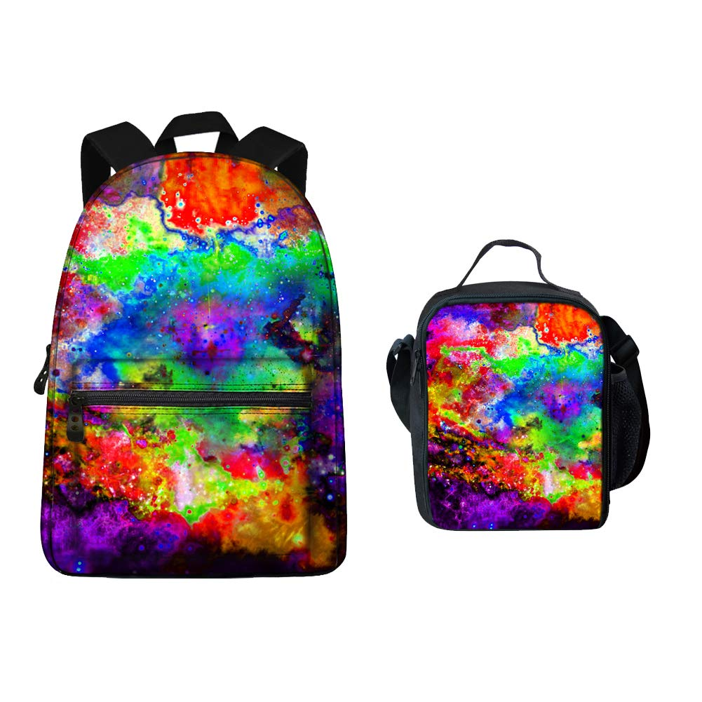 Galaxy Design School Backpack and Lunch Box for Kids Boys Girls by Summeridea
