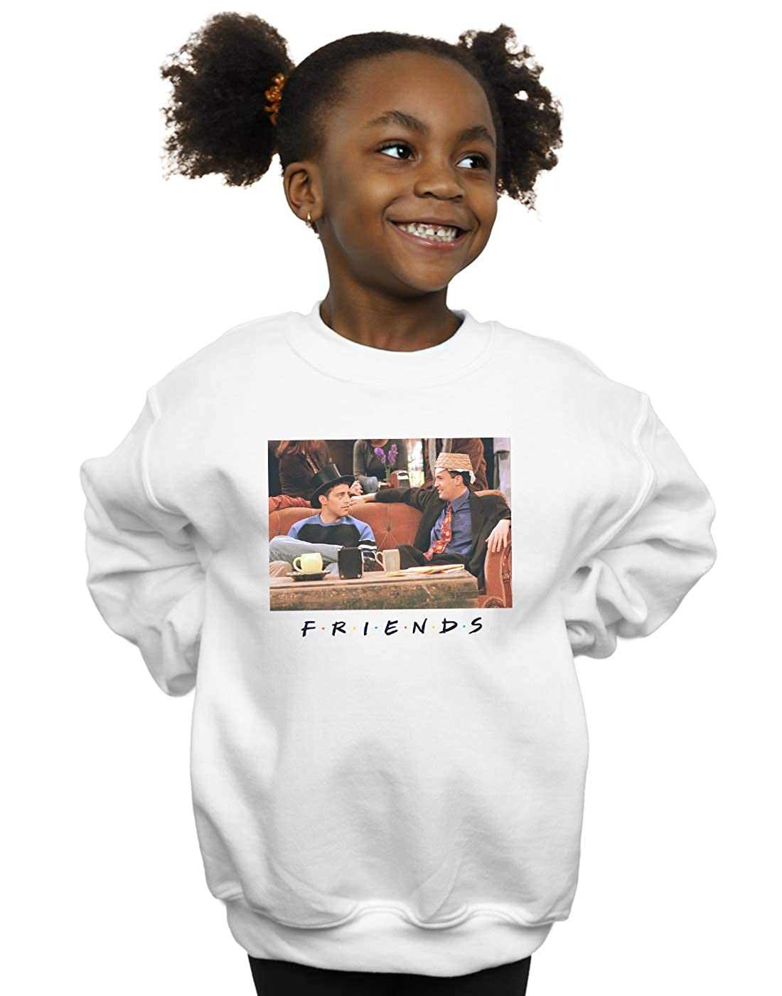 Absolute Cult Friends Girls Joey and Chandler Hats Sweatshirt