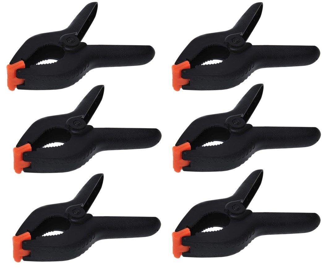 iapyx Lot de 6pinces de serrage à ressort (de 2.5'/64mm à 6'/158mm) iapyx®