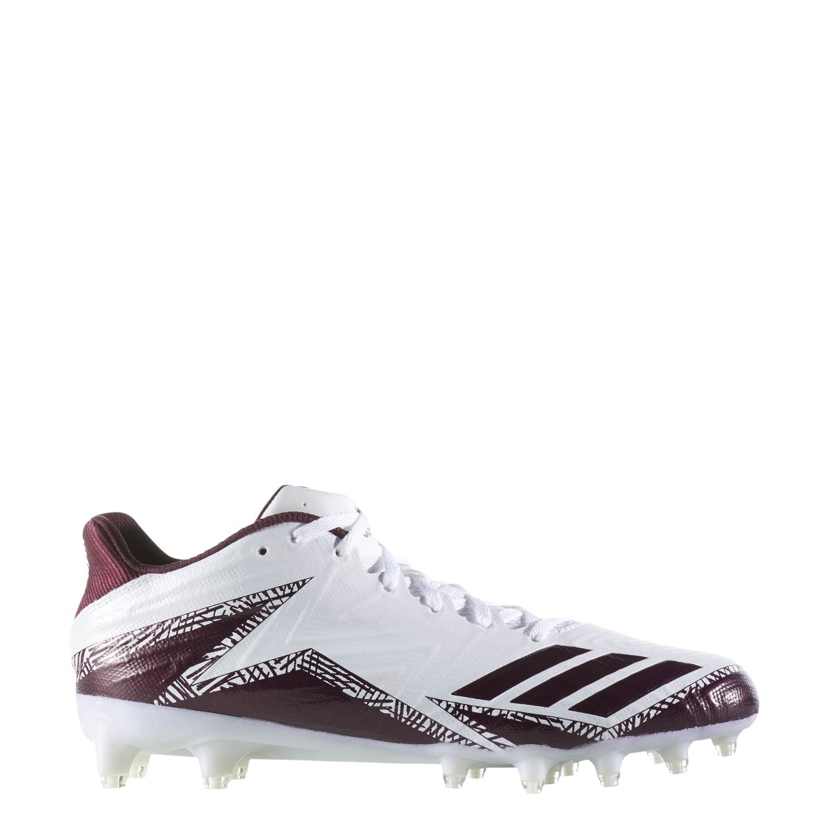 new product 95f00 5d1a3 Amazon.com  adidas Freak X Carbon Low Cleat - Mens Football 15  WhiteMaroonMaroon  Football