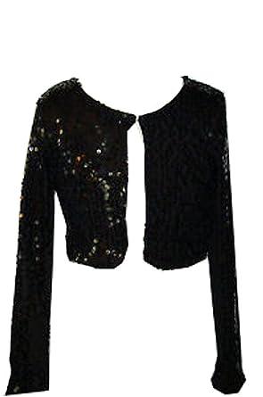 Amazon.com: Rare Editions Girls Sequin Bolero Sweater: Cardigan ...