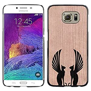 - Sphinx Cat Mythical Symmetry - - Funda Delgada Cubierta Case Cover de Madera FOR Samsung Galaxy S6 G9200 BullDog Case